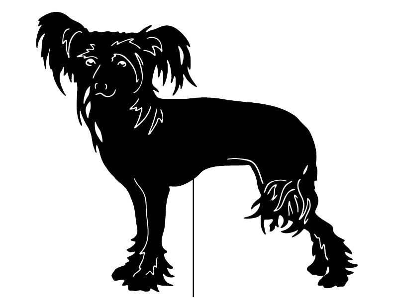 Chinese Crested Garden Stake