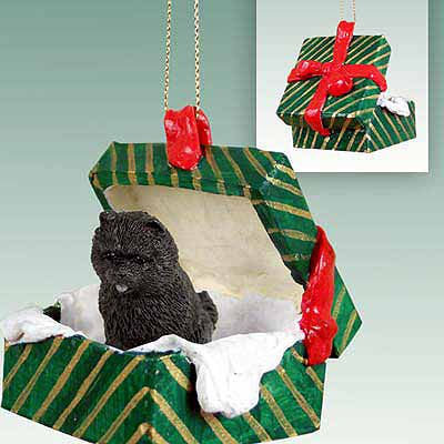 Chow Chow Gift Box Christmas Ornament Black