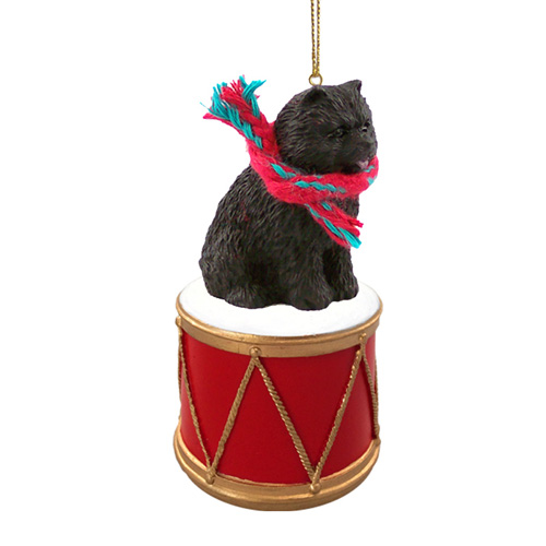 Little Drummer Chow Chow Black Christmas Ornament