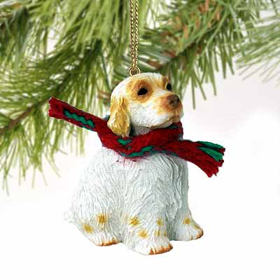 Clumber Spaniel Tiny One Christmas Ornament
