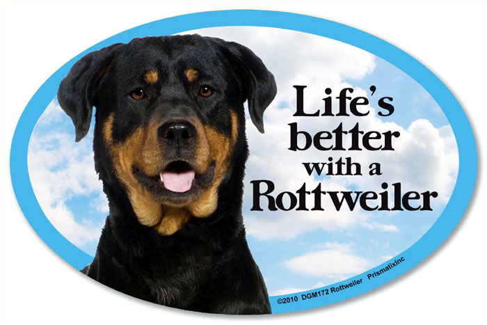Rottweiler Car Magnet - Life's Better