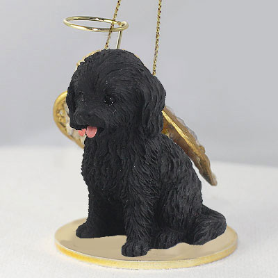 Cockapoo Angel Ornament Black