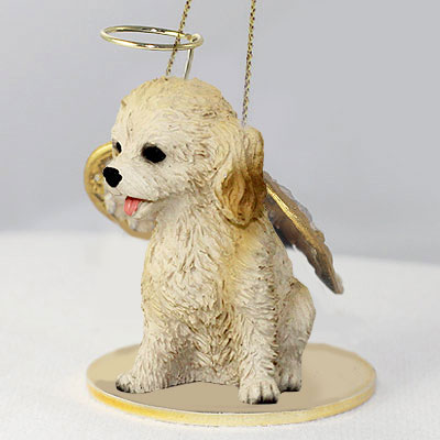 Cockapoo Angel Ornament Blonde