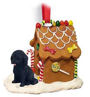 Cockapoo Gingerbread House Christmas Ornament Black
