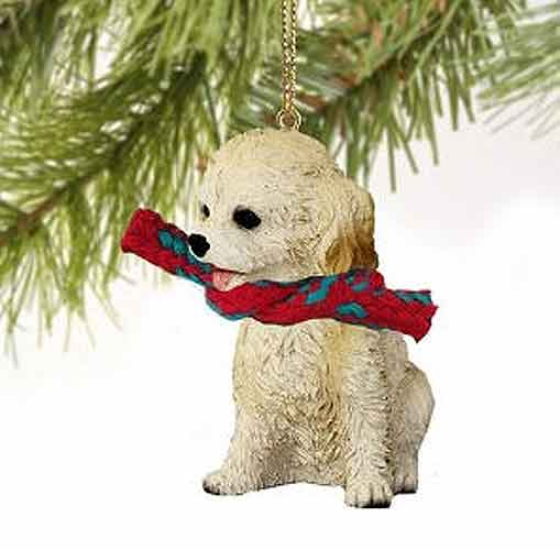 Cockapoo Tiny One Christmas Ornament Blonde