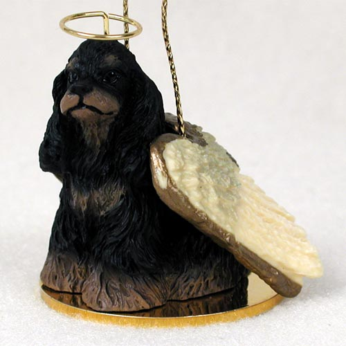 Cocker Spaniel Angel Ornament Black-Tan