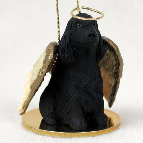 Cocker Spaniel Angel Ornament English Black