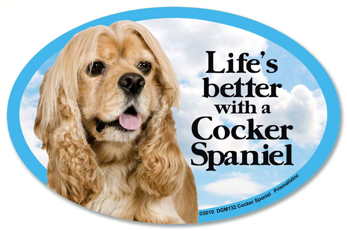 Cocker Spaniel Car Magnet - Life's Better