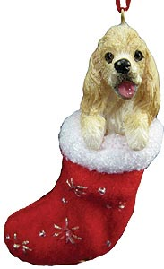 Cocker Spaniel Christmas Stocking Ornament