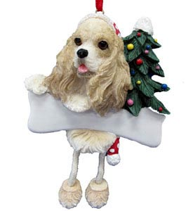 Cocker Spaniel Christmas Tree Ornament - Personalize