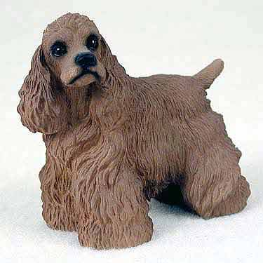 Cocker Spaniel Figurine Brown