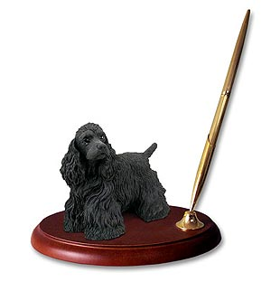 Cocker Spaniel Pen Holder (Black)