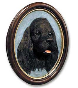 Cocker Spaniel Sculptured Portrait Black