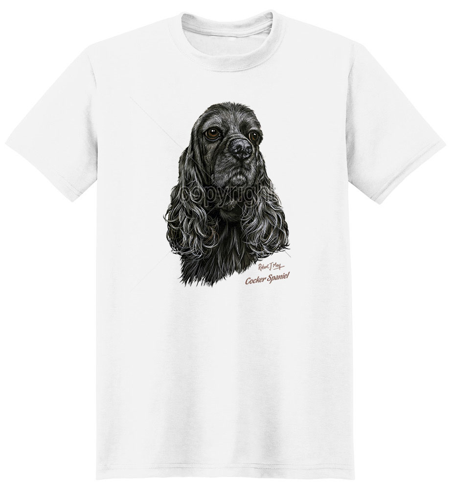 Cocker Spaniel T Shirt Black By Robert May