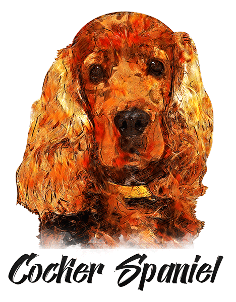 Cocker Spaniel T-Shirt - Vivid Colors