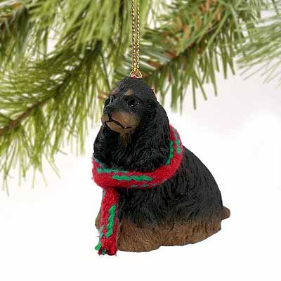 Cocker Spaniel Tiny One Christmas Ornament Black-Tan