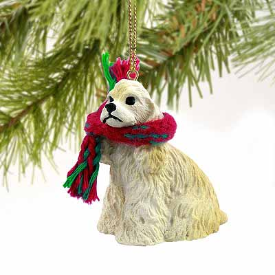 Cocker Spaniel Tiny One Christmas Ornament Blonde