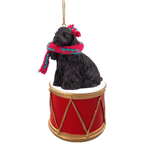Little Drummer Cocker Spaniel Black Christmas Ornament