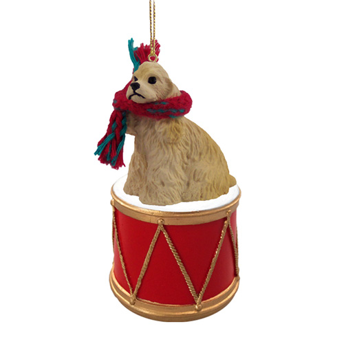 Little Drummer Cocker Spaniel Christmas Ornament