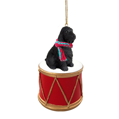 Little Drummer English Cocker Spaniel Black Christmas Ornament