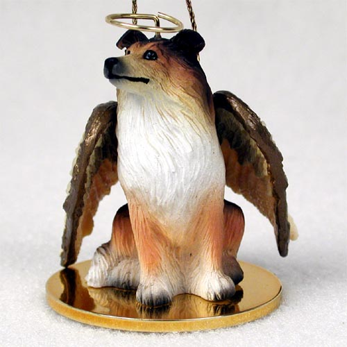 Collie Angel Ornament Sable