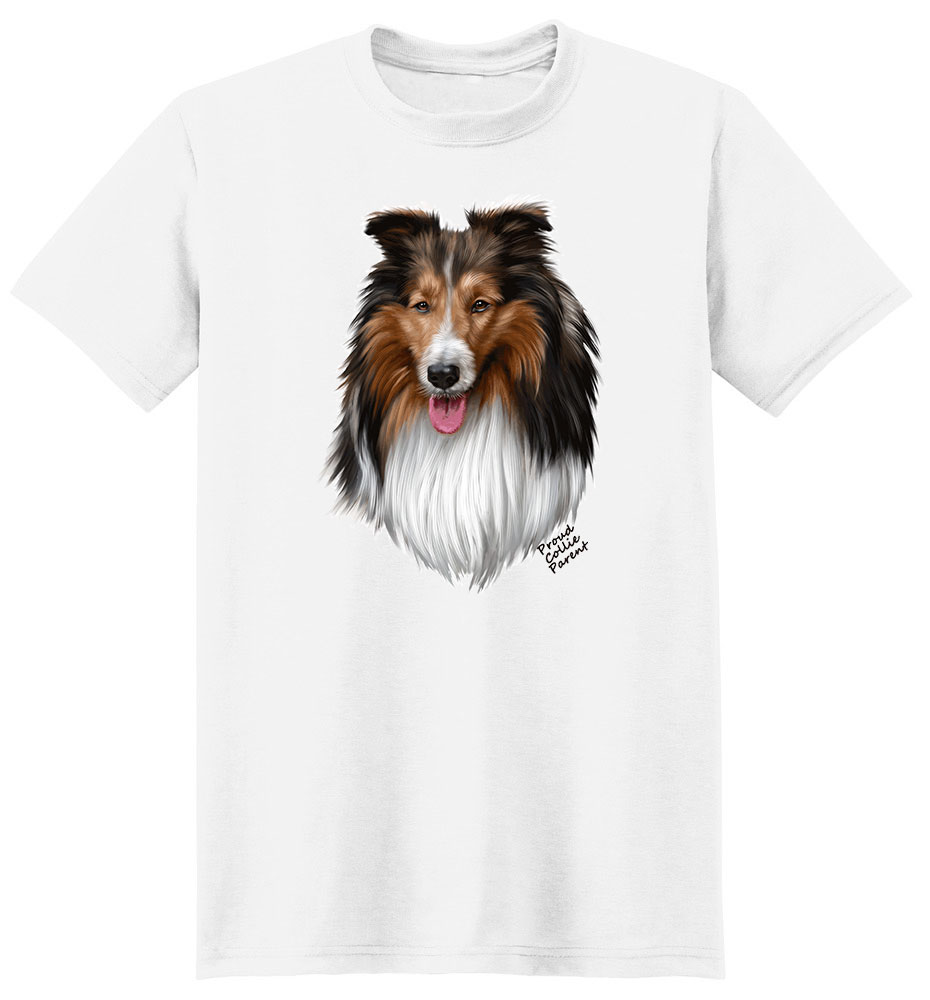 Collie T Shirt - Proud Parent