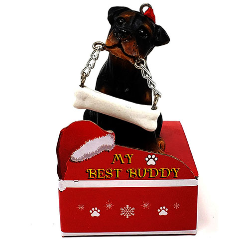My Best Buddy Rottweiler Christmas Ornament