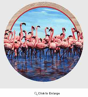 Flamingo Drink Coasters