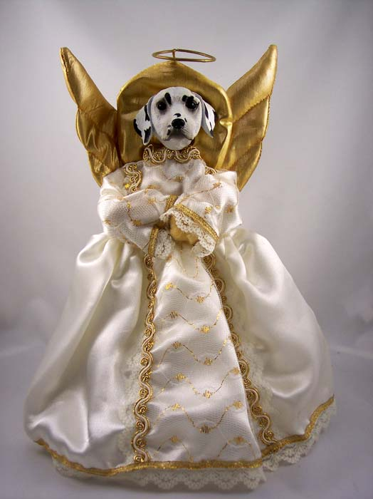 Dalmatian Angel Christmas Tree Topper