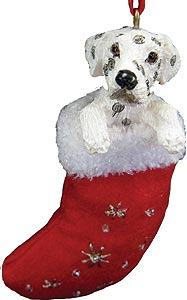 Dalmatian Christmas Stocking Ornament