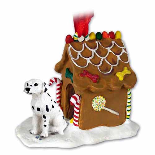 Dalmatian Gingerbread House Christmas Ornament