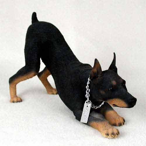 Doberman Figurine Black MyDog