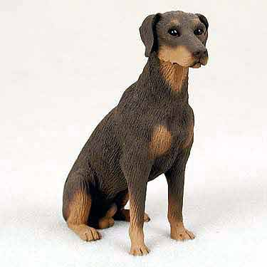 Doberman Figurine Red Uncropped