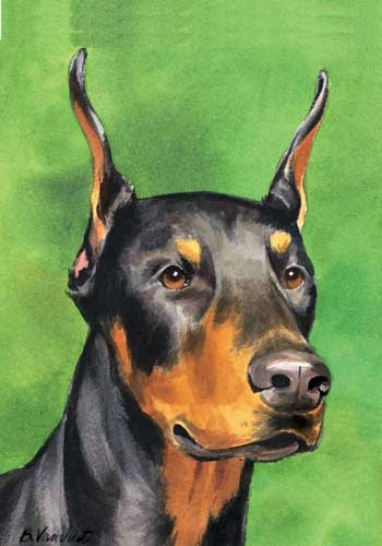 Doberman House Flag