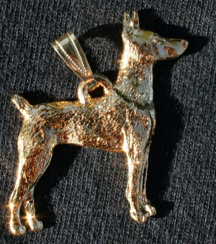 Doberman Pinscher 24K Gold Plated Pendant