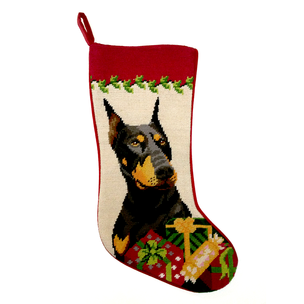Doberman Pinscher Christmas Stocking