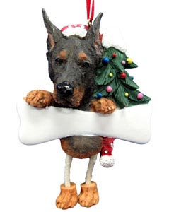 Doberman Pinscher Christmas Tree Ornament - Personalize