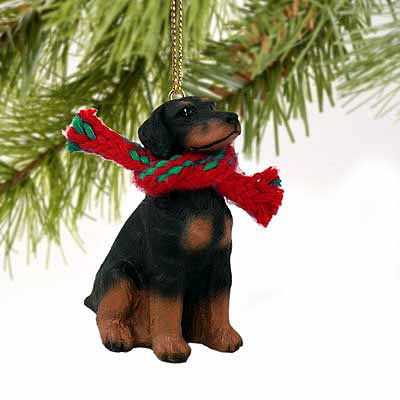 Doberman Pinscher Tiny One Christmas Ornament Black Uncropped
