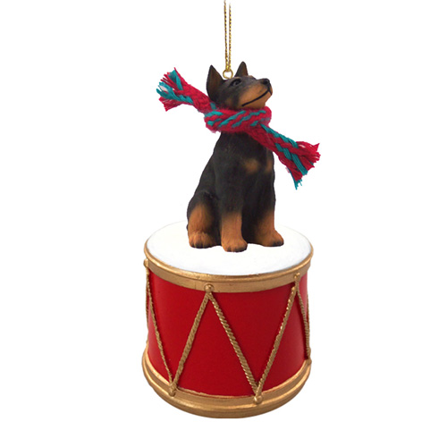 Little Drummer Doberman Pinscher Christmas Ornament