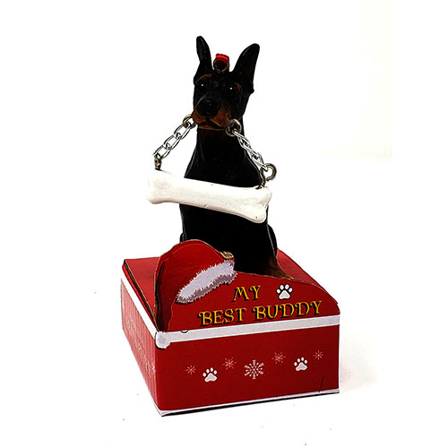 My Best Buddy Doberman Pincher Christmas Ornament