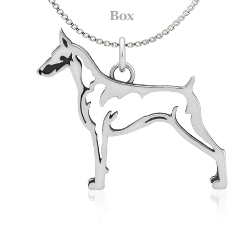 Sterling Silver Doberman Pinscher Body Necklace