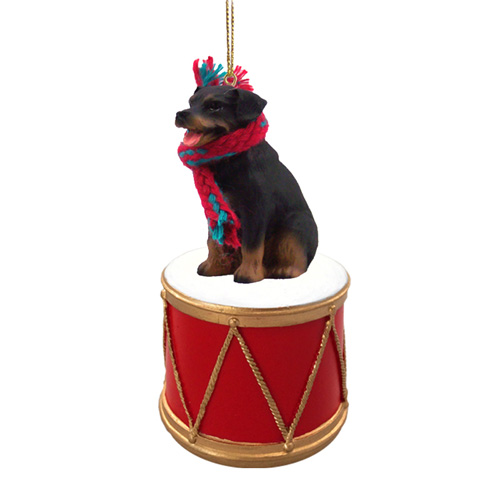 Little Drummer Rottweiler Christmas Ornament