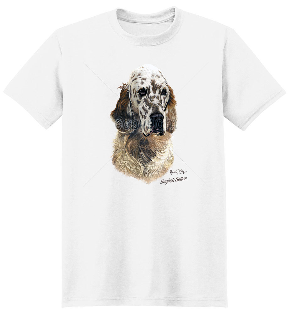 English Setter T Shirt by Robert May