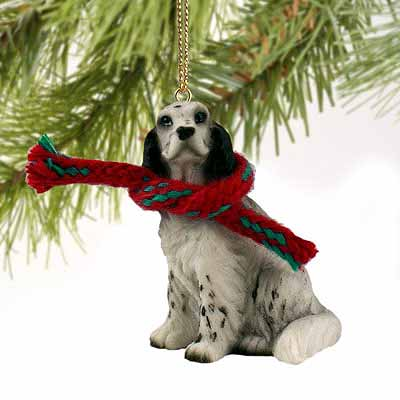 English Setter Tiny One Christmas Ornament Belton Blue