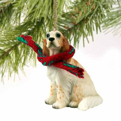 English Setter Tiny One Christmas Ornament Belton Orange