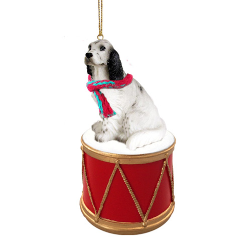 Little Drummer Belton Blue English Setter Christmas Ornament