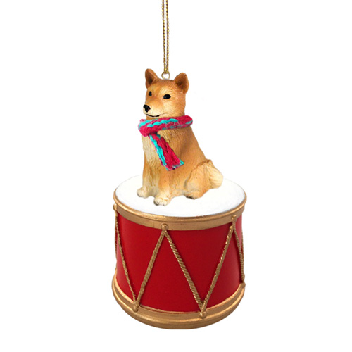 Little Drummer Finnish Spitz Christmas Ornament