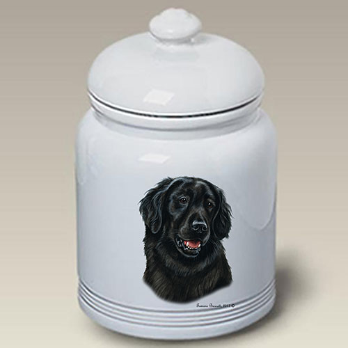 Flat-Coated Retriever Treat Jar