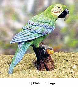 Parrot Figurine Green