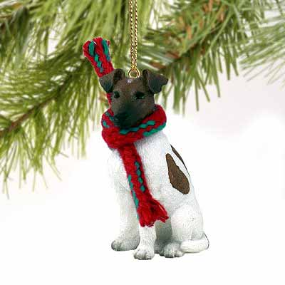 Smooth Fox Terrier Tiny One Christmas Ornament Brown-White